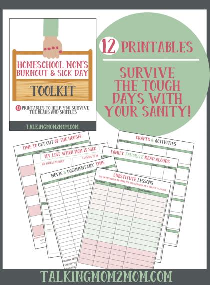 Free Homeschool Mom Burnout & Sick Day Kit