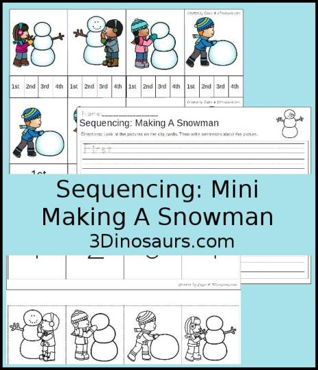 Free Making a Snowman Sequencing Set