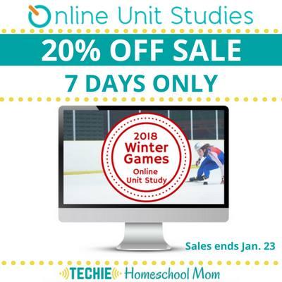 20% Off 2018 Winter Games Online Unit Study