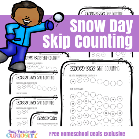 Free Winter Skip Counting Worksheets