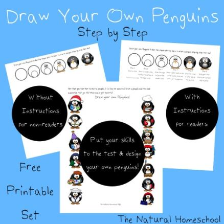 Free Draw Your Own Penguin Printable