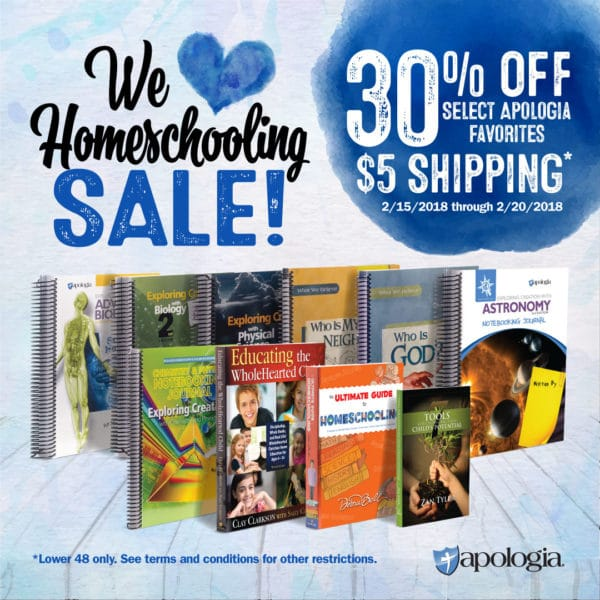 We Love Homeschooling Sale at Apologia - 30% Off Select Resources!