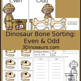 Free Dinosaur Even & Odd Number Sorting Printables