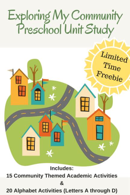 Free Exploring My Community Preschool Unit Study