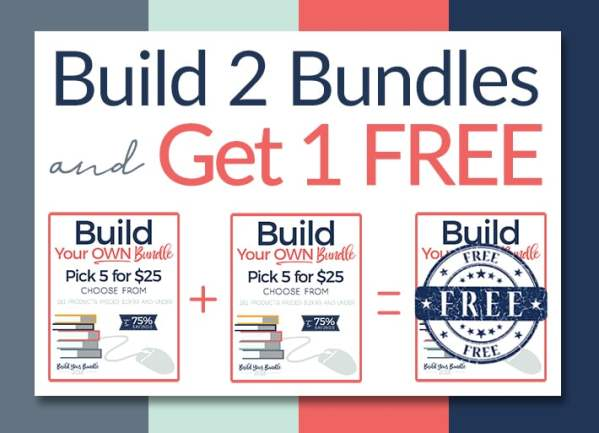 BUild your own homeschool bundles during the Build Your Bundle Sale! Find our hand-picked suggestions to stretch your savings!