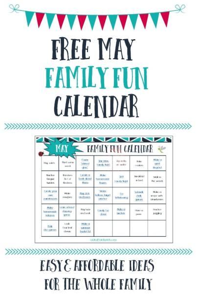 Free May Family Fun Calendar