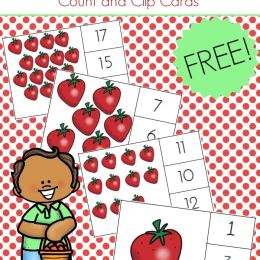 FREE STRAWBERRY COUNT AND CLIP CARDS (Instant Download)