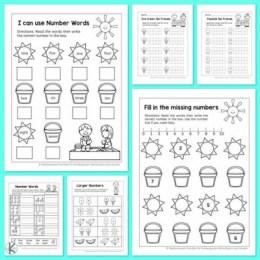 Free Summer Kindergarten Math Worksheets