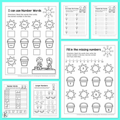 Free Math Worksheets For Kindergarten Homeschool