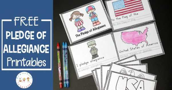 Free Pledge of Allegiance Worksheets
