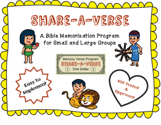 Free Share-A-Verse Bible Memorization Program
