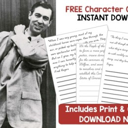 Free Mr. Rogers Character Copywork Pack