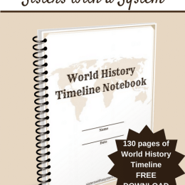 Free World History Timeline Notebook (130 Pages!)