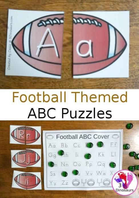 Free Football Alphabet Puzzles