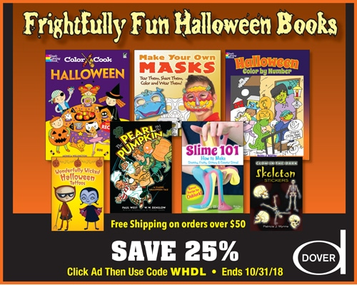 Save 25% on Fun Halloween Books from Dover!