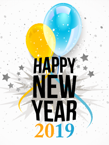 Ballons With 2019 Happy New Year Cards 47301 Free Icons