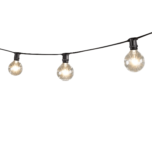 Mini string lights with globe lamps png 43376  Free