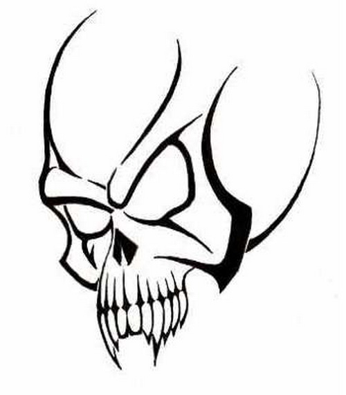 Tribal Skulls To Use On Tattoos Or Designs In Computer