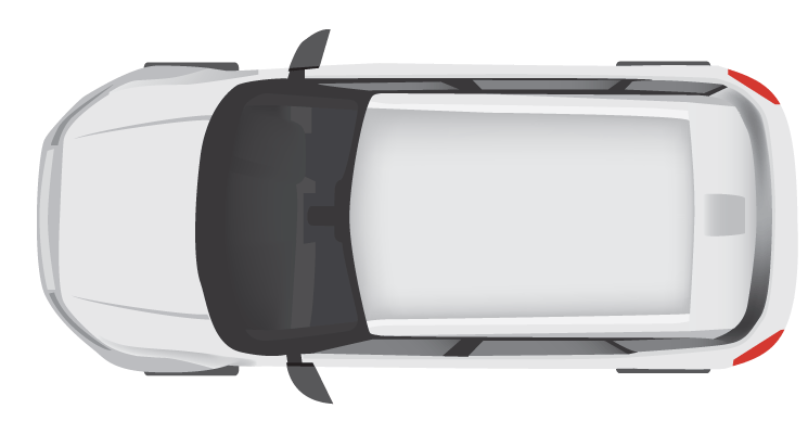 White Modern Car Top View 34878  Free Icons and PNG