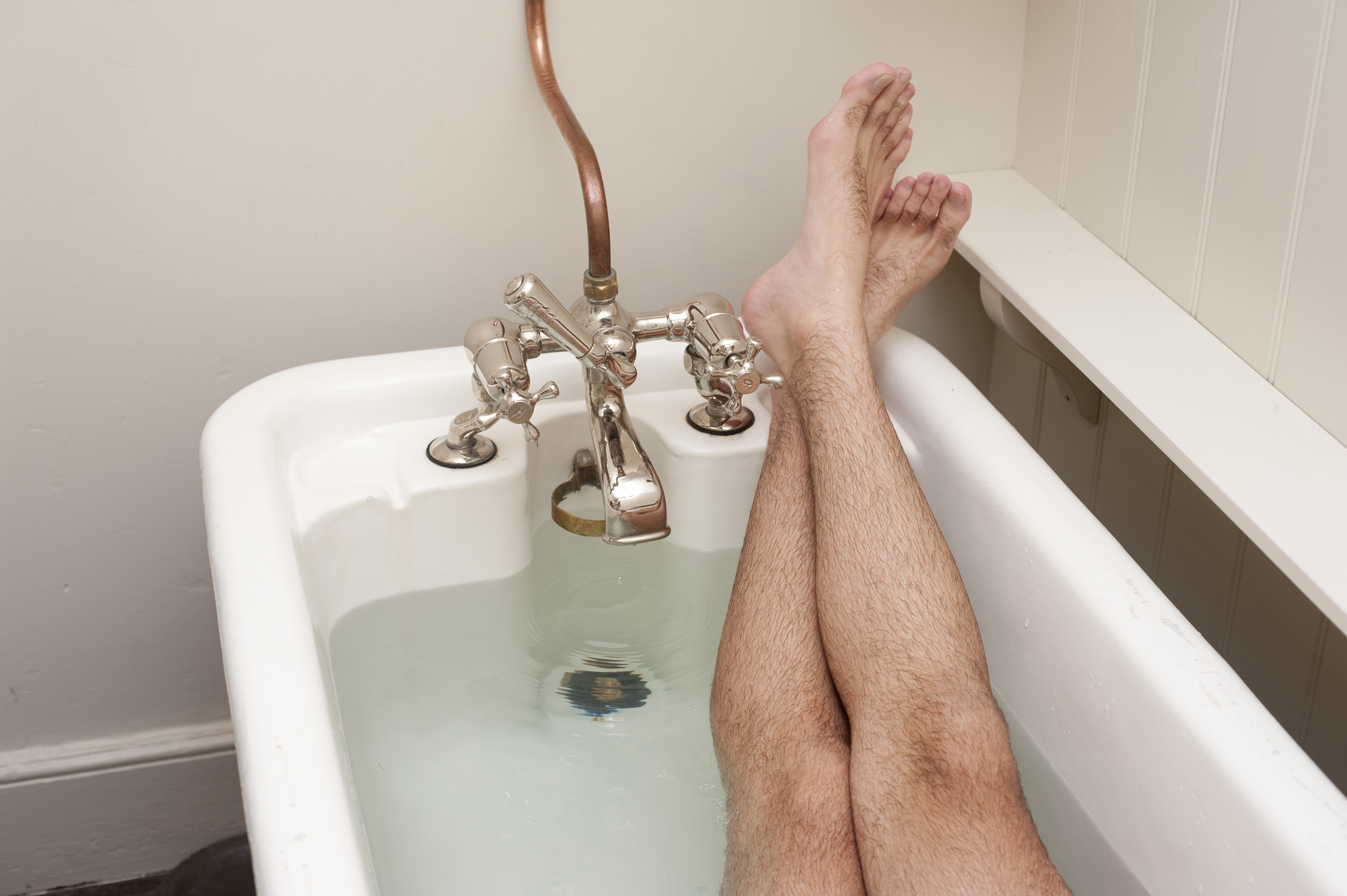 Free Stock Photo 6928 Man relaxing having a bath