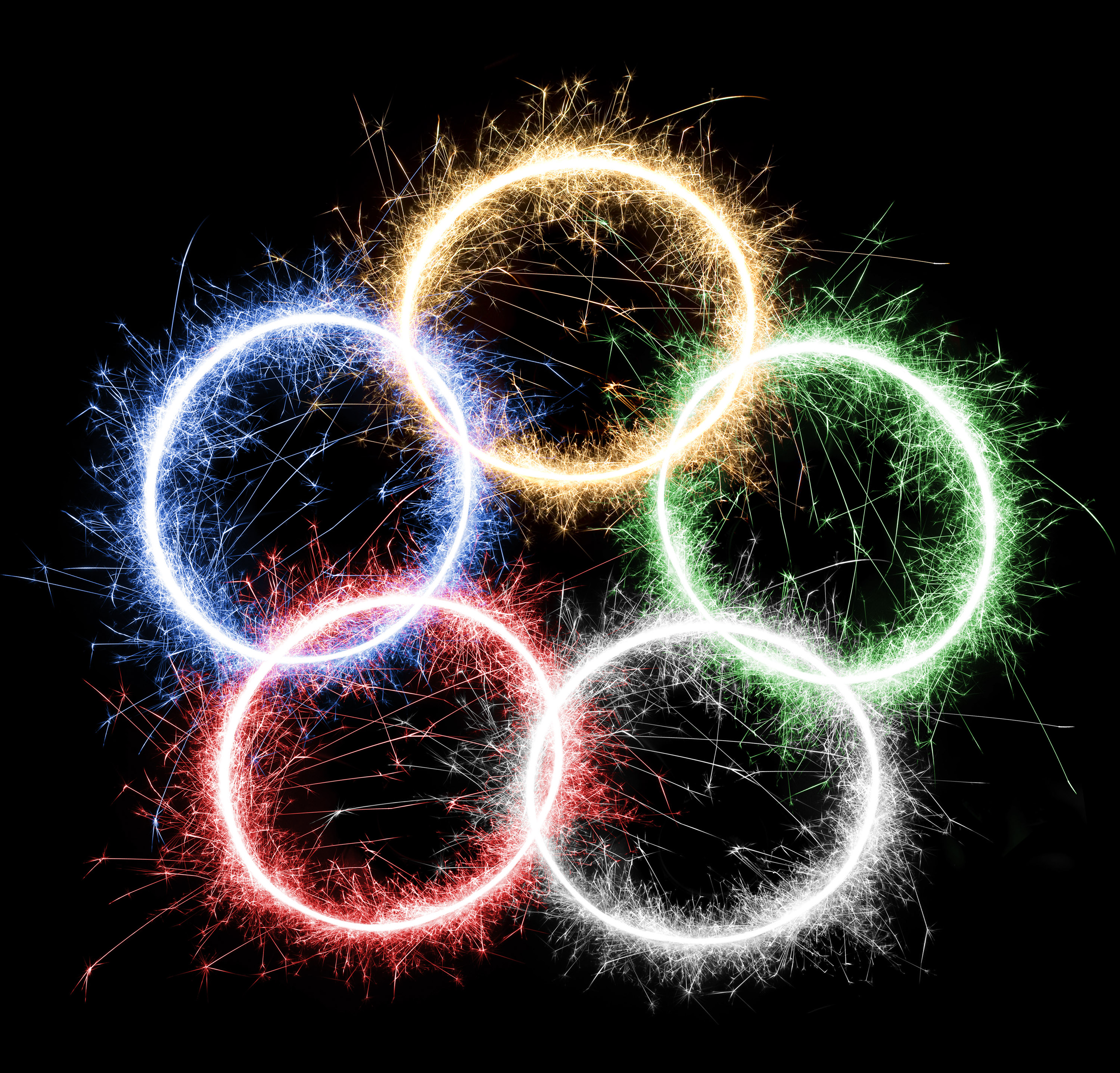 Free Stock Photo 5733 Olympic Fireworks Ring Freeimageslive