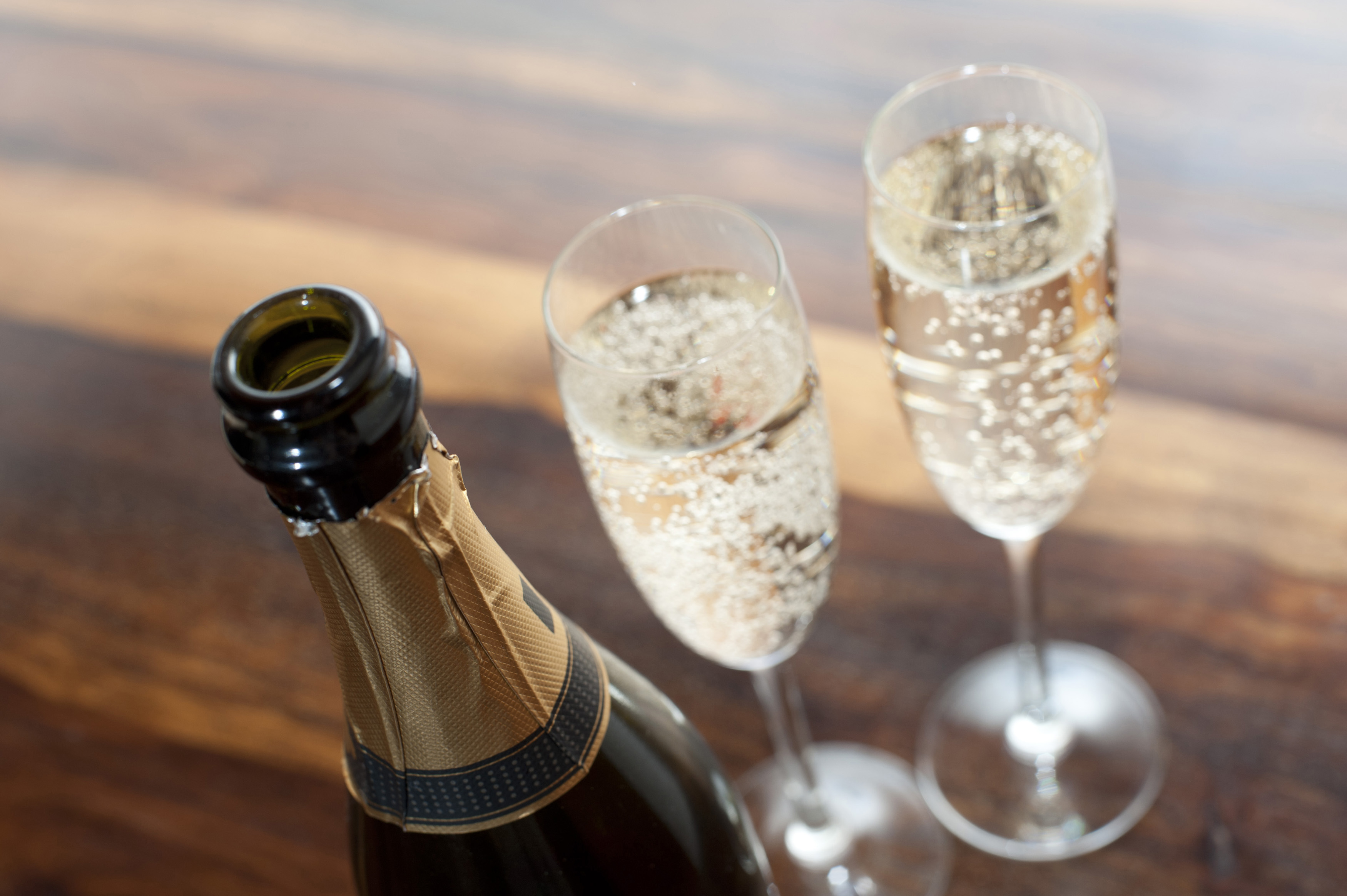 Free Stock Photo 11596 Two flutes of romantic champagne