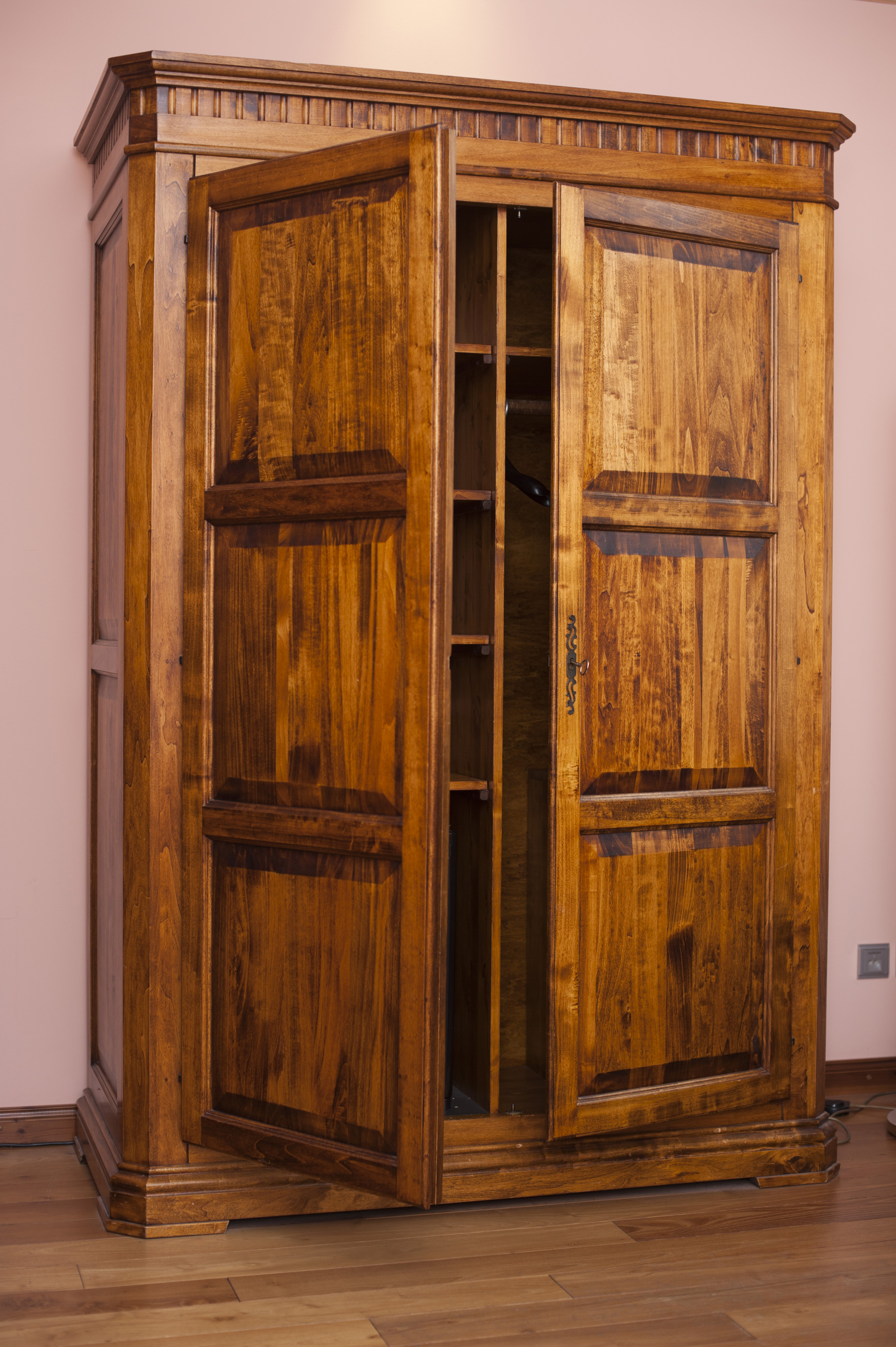 Free Stock Photo Large Old Rustic Wooden Wardrobe