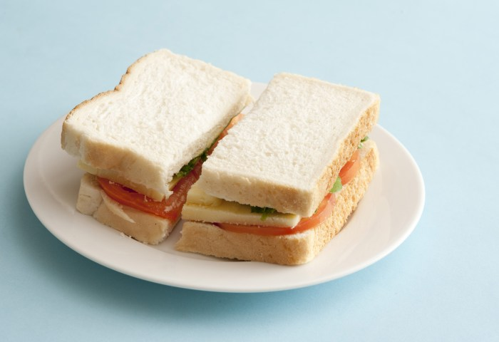 Free Stock Photo 12741 Basic White Bread Sandwich Freeimageslive