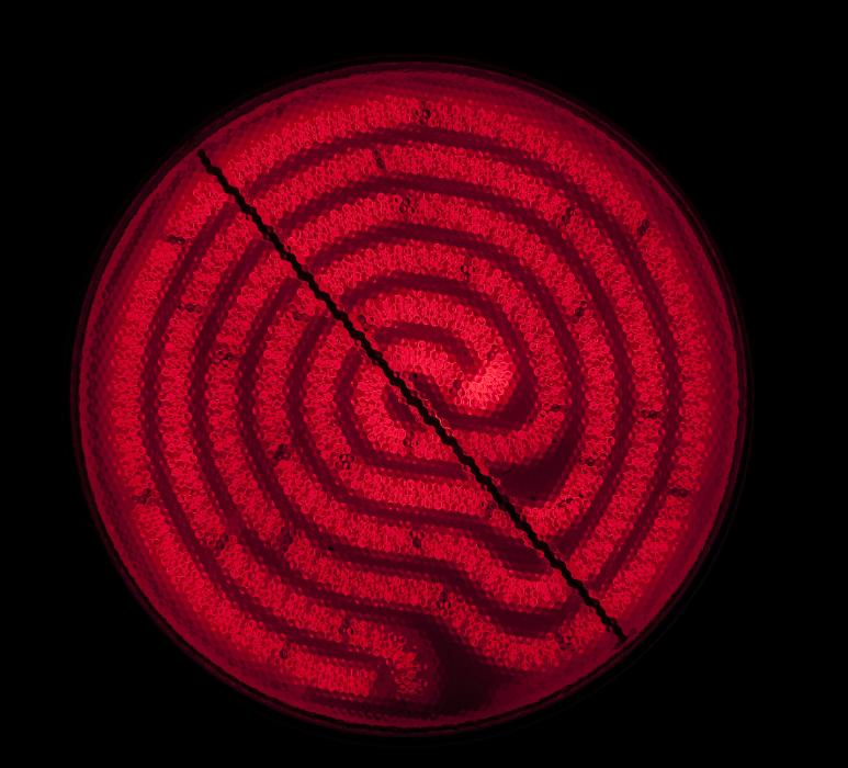 a red glowing electric hotplate