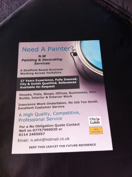 NW Painting  Decorating Services Sheffield  22 reviews