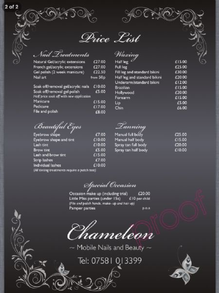 Chameleon Mobile Nails And Beauty Liverpool Mobile