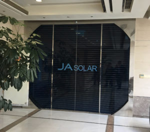 JA Solar is one of China's largest distributors of solar products