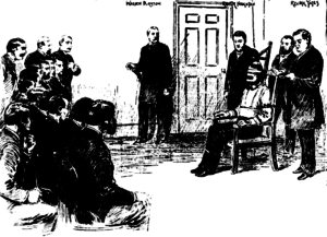The execution of William Kemmler, the first victim of the electric chair