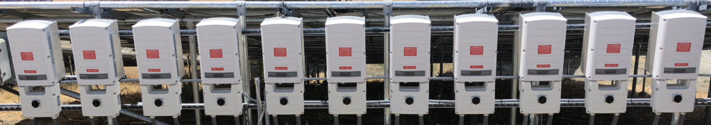 An array of solar inviters