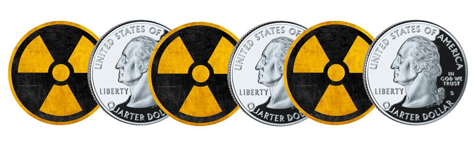 radioactive quarters