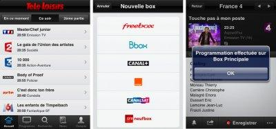 application Télé Loisirs iPhone