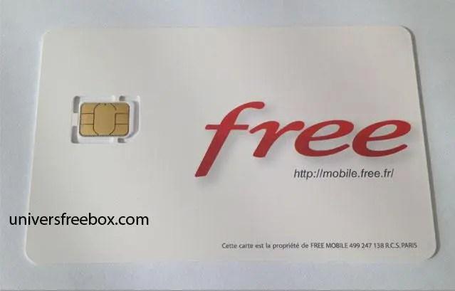 carte sim free nano Photo de la carte nano sim Free Mobile   Free Mobile iPhone
