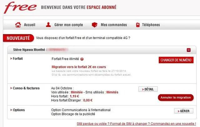 Free Mobile Annuler La Migration D 39 Un Forfait L 39 Autre
