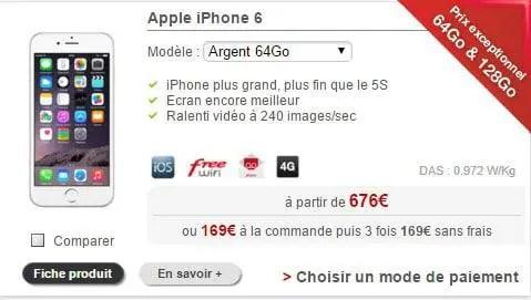 iphone 6 en solde chez free mobile. Black Bedroom Furniture Sets. Home Design Ideas