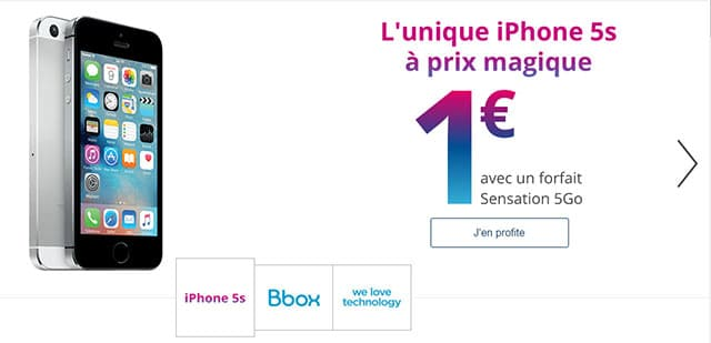 forfait free mobile avec iphone 5s