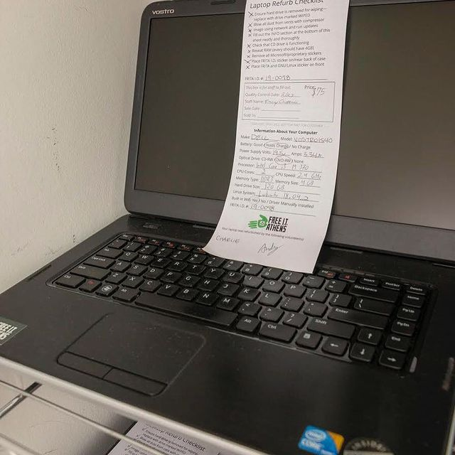 a laptop ready for sale