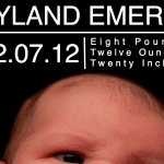 Boy Birth Announcement Template With Word Bubbles