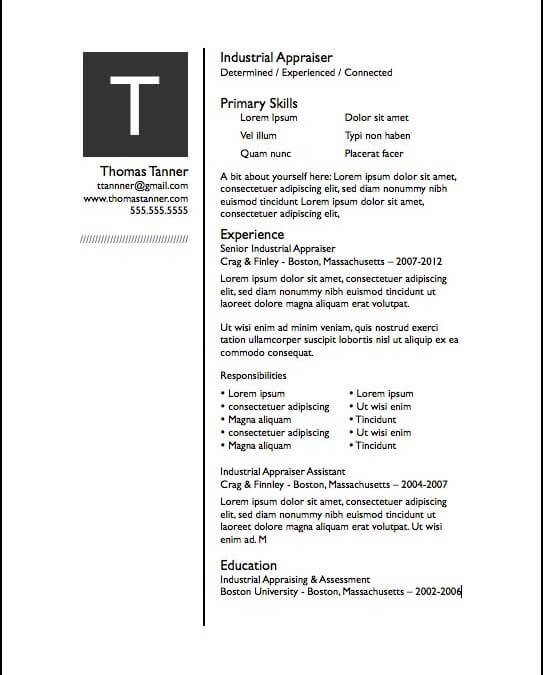 Pages Resume Templates Free IWork Templates