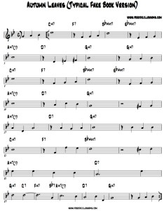 Autumn leaves chord chart jazz piano also how to learn songs the right way rh freejazzlessons