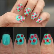 diy floral nail art design