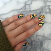 diy floral nail art design