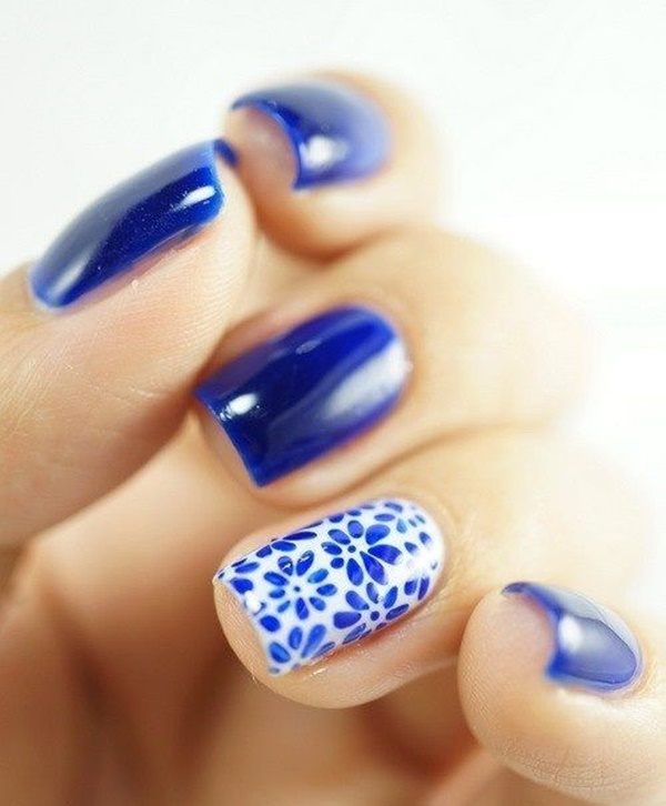 40 DIY Floral Nail Art Designs To Try This Holiday