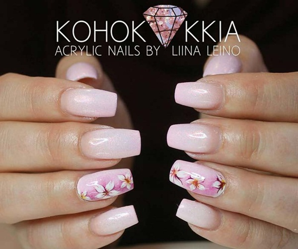 Grab Yourself A Fl Or White Dress And This Insane Inviting Acrylic Nail Design To Rule The Party Be Queen