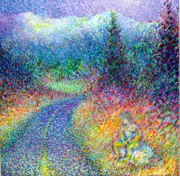 25 Dot Paintings Simple Landscape Pictures And Ideas On Pro Landscape