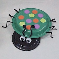 Paper Plate Beetle Craft